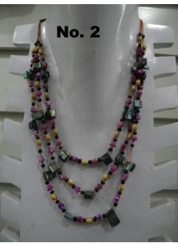 Beaded Glasse Necklace Multi