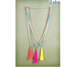 Beaded Tassel Necklace Crystal