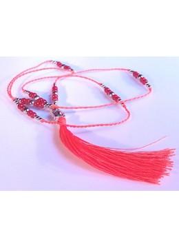 Beaded Tassel Necklace Layered