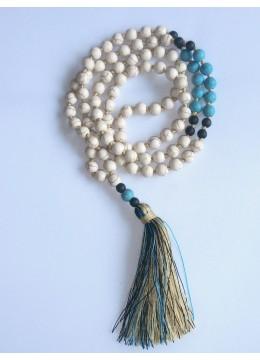 Long Tassel Necklace Stone