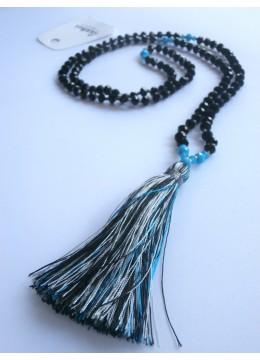Long Tassel Necklace Cystal
