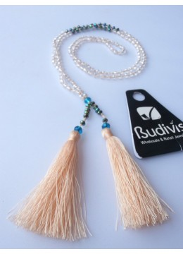 Long Crystal Tassel Necklaces