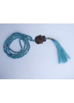 Beaded Tassel Necklace Wood