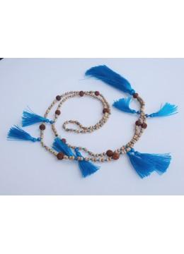 Multi Beaded Tassel Necklace