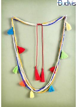 Multi Tassel Necklace Bead