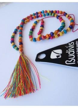 Tassel Necklace Wood Bead