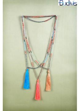 Long Tassel Necklace Crystal