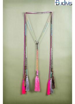 Long Tassel Necklace Scarf