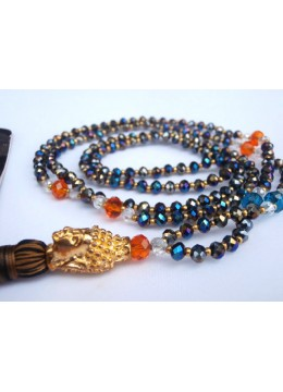 Beaded Tassel Necklace Buddha