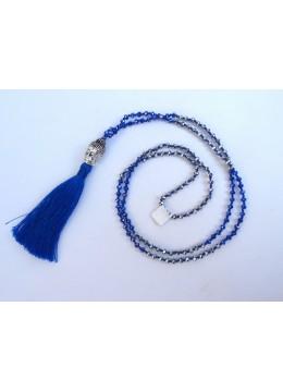 Long Crystal Tassel Necklace Buddha