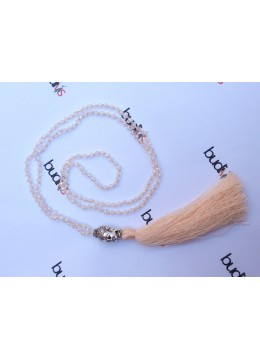 Long Crystal Tassel Necklaces Buddha