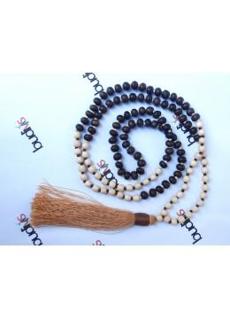 Long Wooden Bead Tassel Necklaces