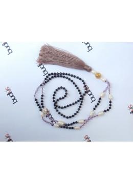 Long Crystal Pearl Tassel Necklaces