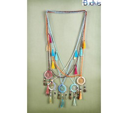 Long Crystal Tassel Necklaces Dreamcatcher