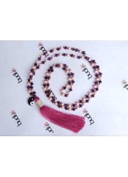 Long Crystal Tassel Necklace