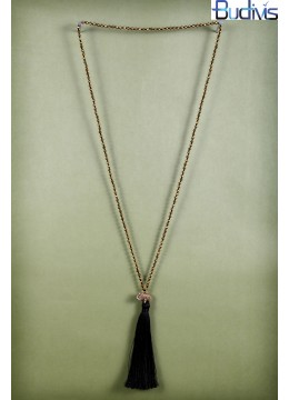 Long Crystal Tassel Necklace Elephant