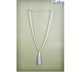 Long Antique Crystal Tassel Necklace