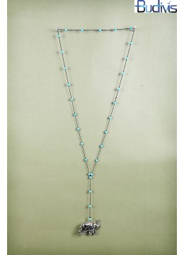 Long Beads Tassel Necklace Elelpant