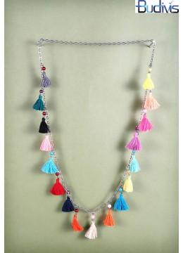 Long Chain Multi Tassel Necklace