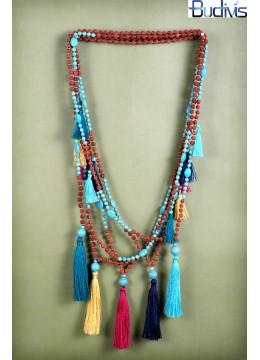 Long Rudraksha Comb Tassel Necklace