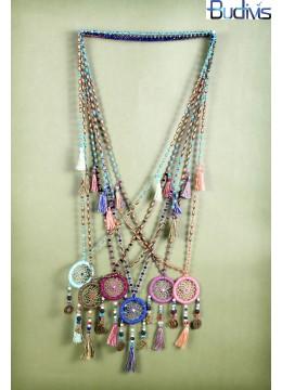 Long Crystal Tassel Necklace Dreamcatcher