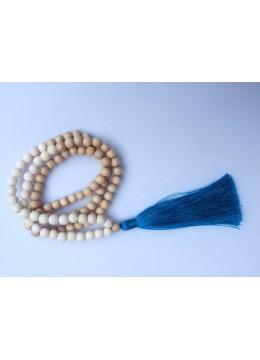 Long Wood Tassel Necklace