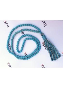 Long Beaded Gems Tassel Necklace