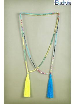 Long Bead Tassel Necklace