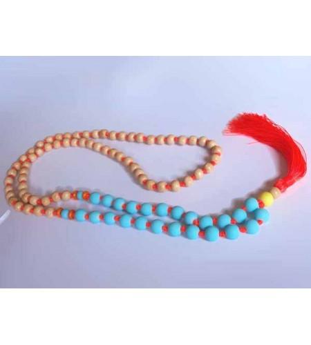 Beaded Long Tassel Necklace