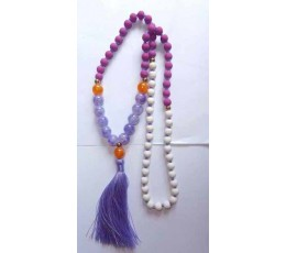 Beaded Long Tassel Necklace