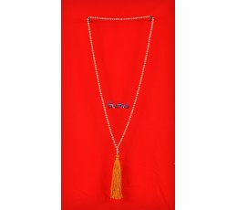 Long Beaded Crystal Tassel Necklaces