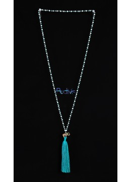 Long Beaded Crystal Tassel Necklaces Elephant
