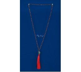 Long Beaded Crystal Tassel Necklaces Buddha