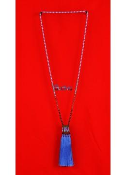 Long Beaded Crystal  Multi Tassel Necklaces