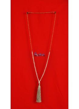 Long Crystal Tassel Necklaces Mini Pearl