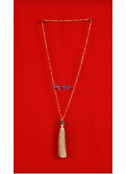 Long Beaded Crystal Tassel Necklaces Elephant