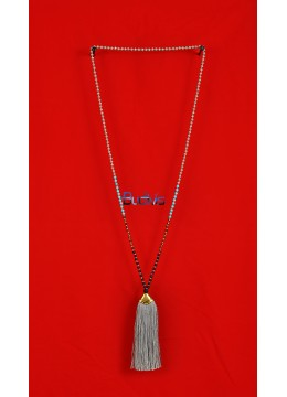 Long Beaded Crystal Tassel Necklaces Pendant
