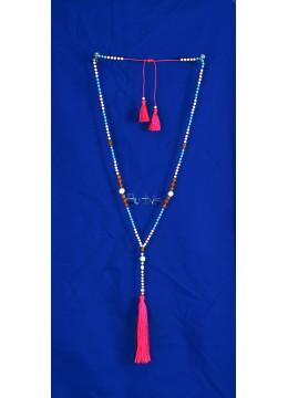 Long Crystal Tassel Necklaces Pearl Rudraksha