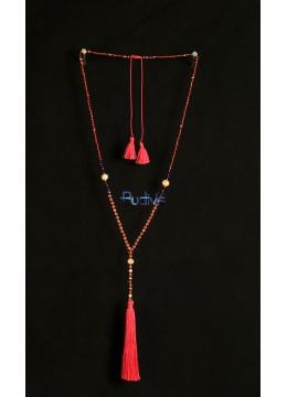 Long Crystal Tassel Necklaces Pearl