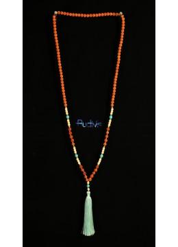 Long Beaded Tassel Necklaces Rudraksha