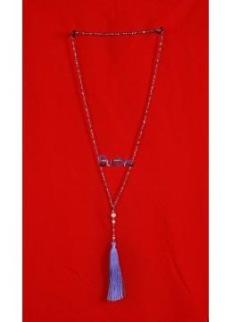 Long Beaded Crystal Tassel Necklaces Pearl