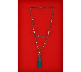 Long Large Crystal Tassel necklaces Pearl