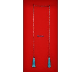 Long Beaded Crystal Lariat Tassel Necklaces