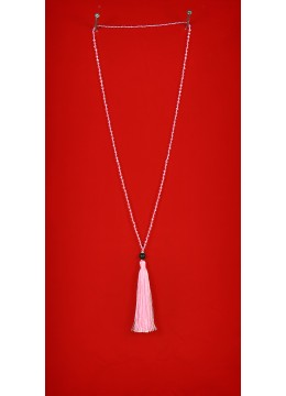 Long Beaded Tassel Necklaces with Lava