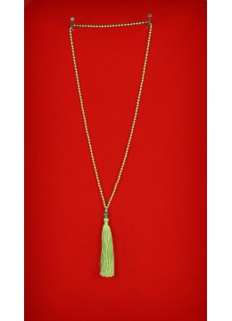 Long Beaded Tassel Necklaces with Gemstone
