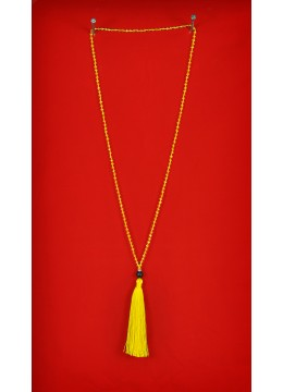 Long Beaded Multi Tassel Necklaces with Lava