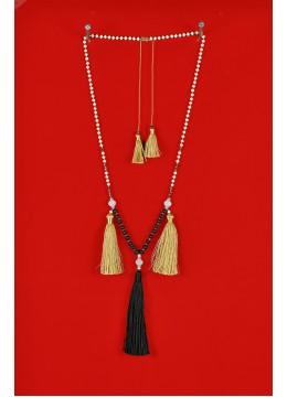Boho Chic Multi Tassel Necklace Gemstones