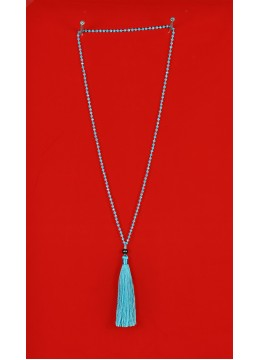 Long Crystal Tassel Necklace with fresh Water