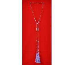 Long Beaded Lariat Tassel Necklace Fresh Water