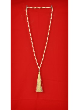 Wooden Tassel Necklaces with Pearl